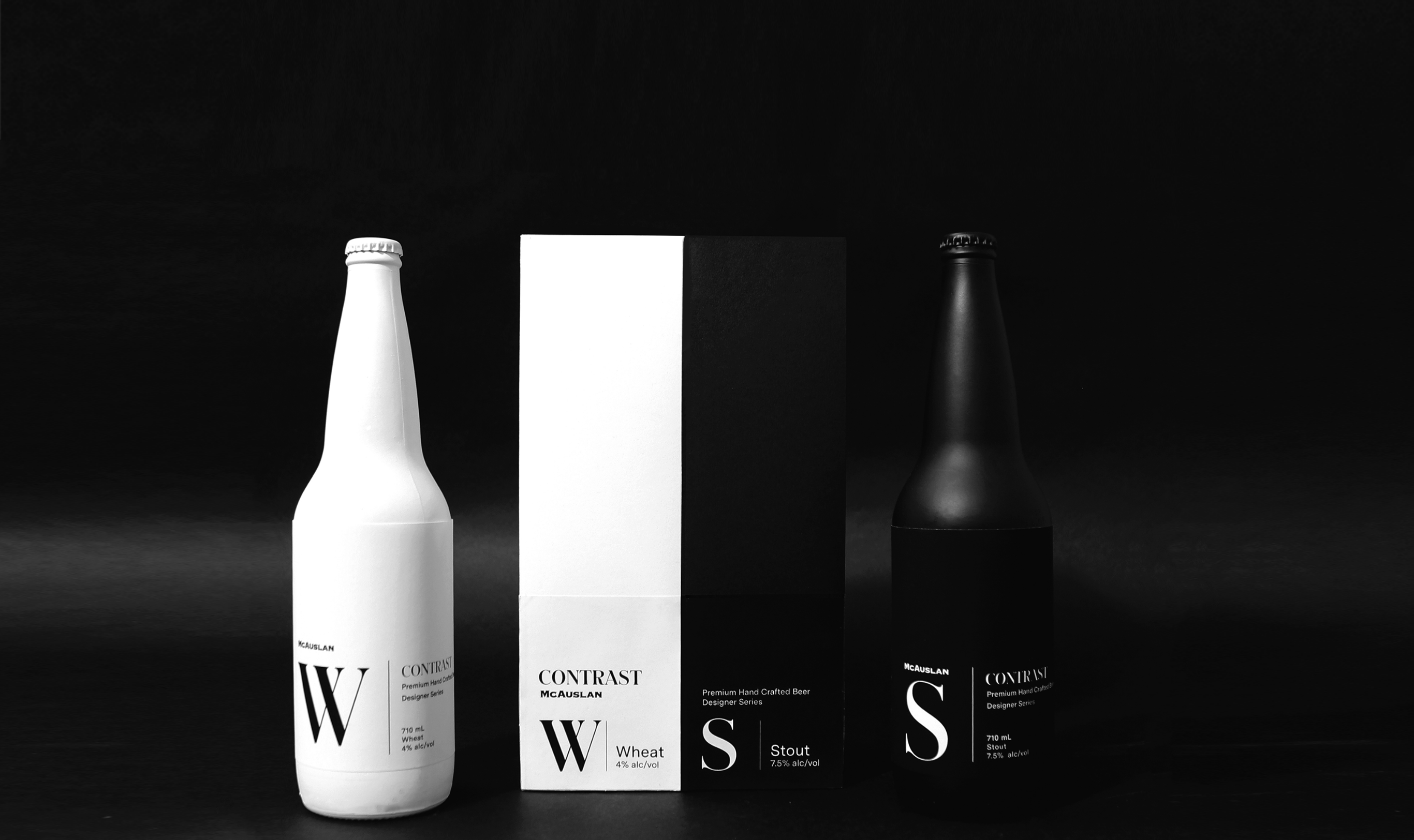 Contrast: Packaging and the bottles next to the box.