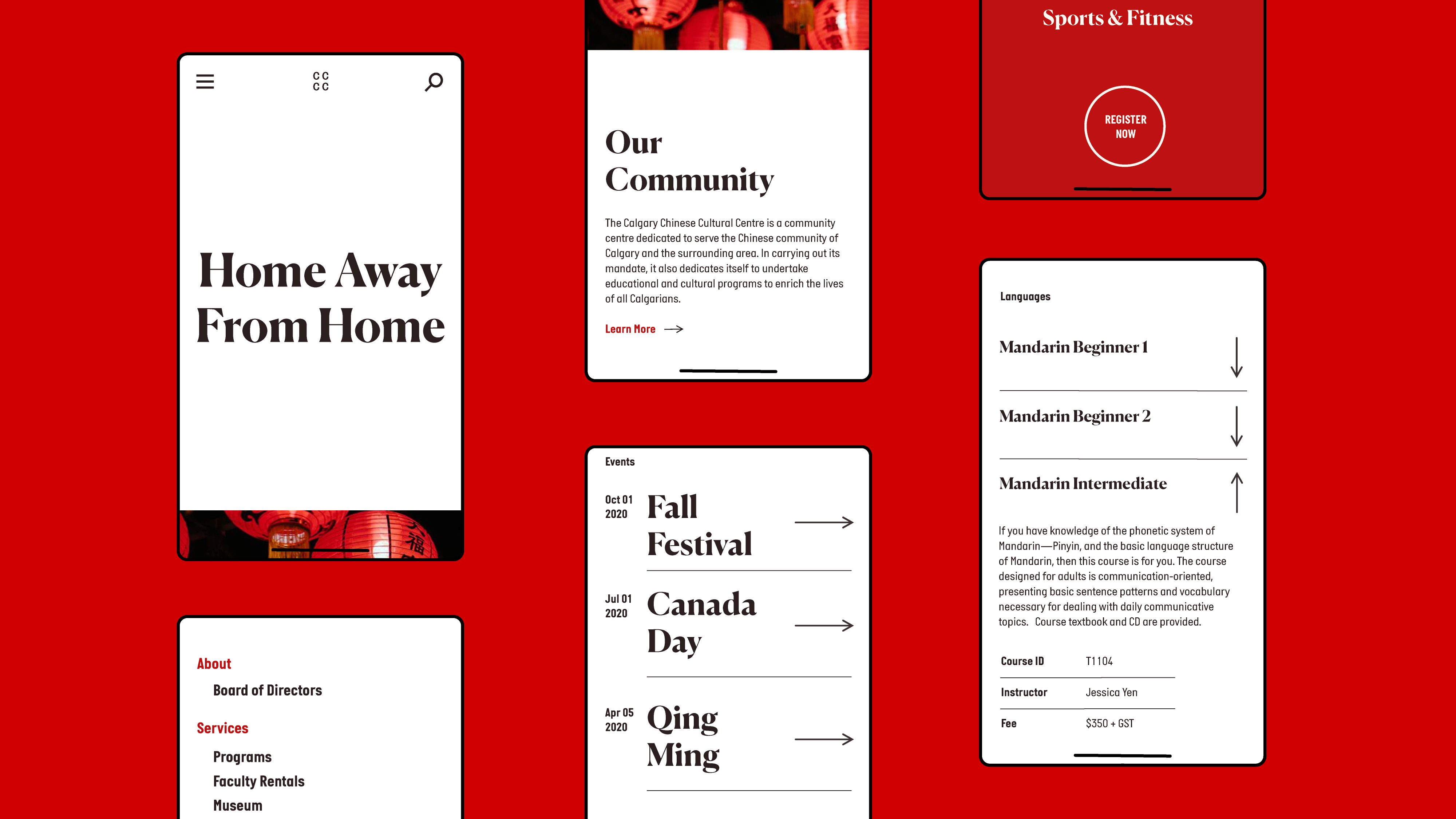 CCCC Mobile Website