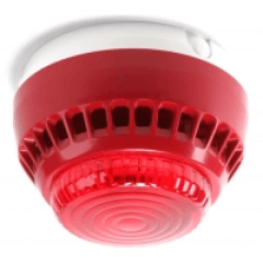 Red smoke detector
