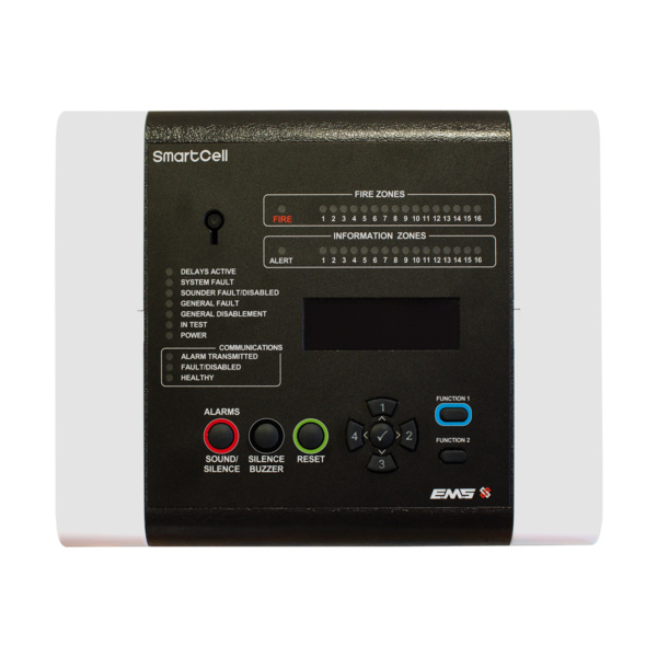 EMS Firecell wireless fire alarm panel and devices