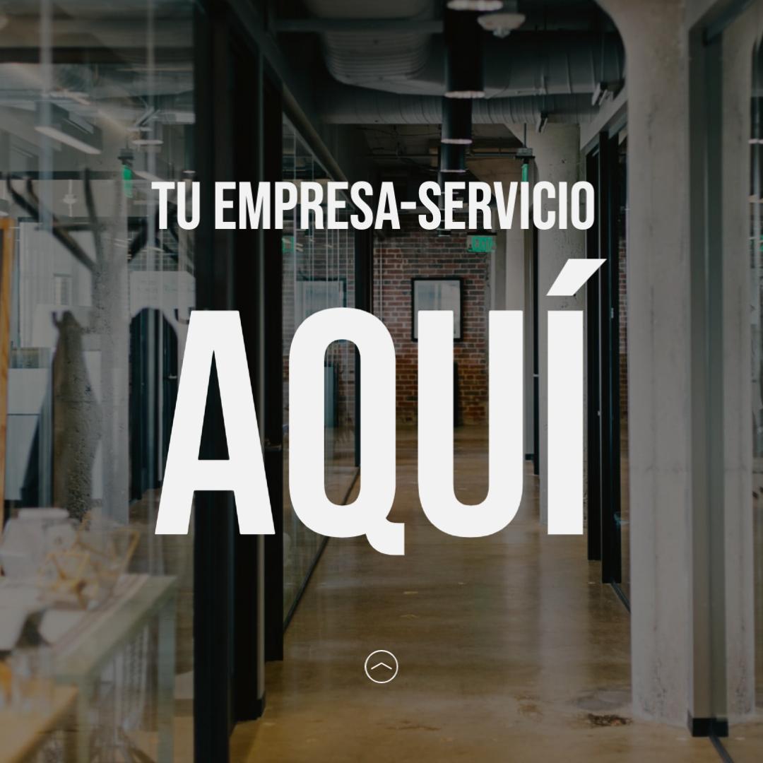Tu empresa o servicio aquí