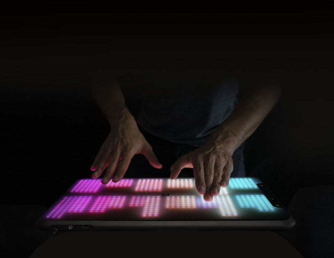 ERAE Touch layout with 1D faders