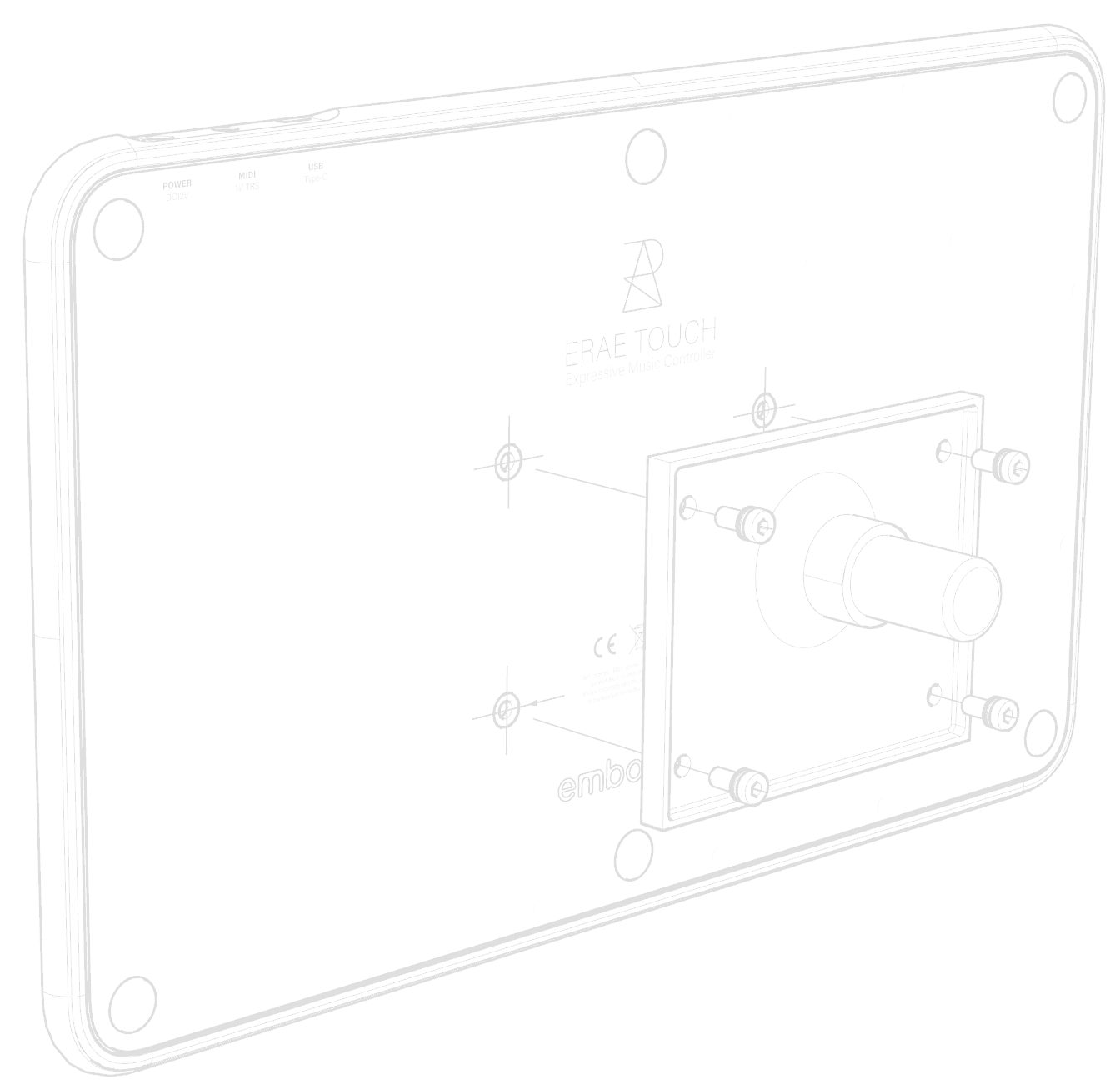 Connecting a backplate on ERAE Touch
