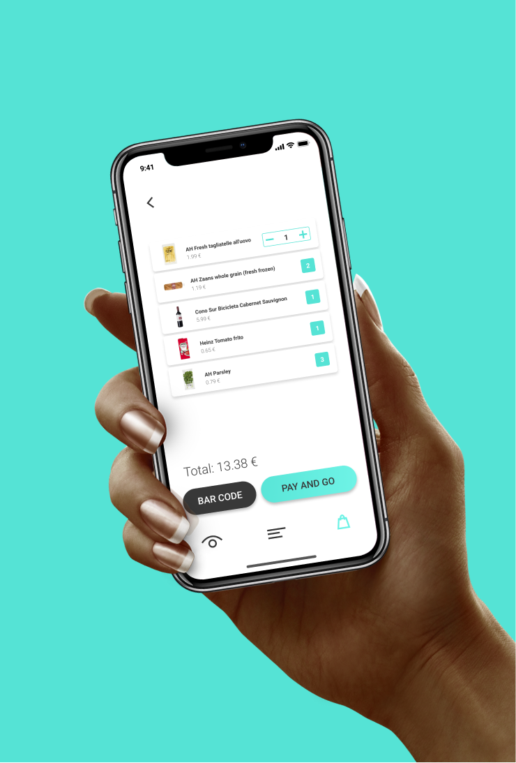 UX/UI design of shopon app. shopping experience for the visually impaired