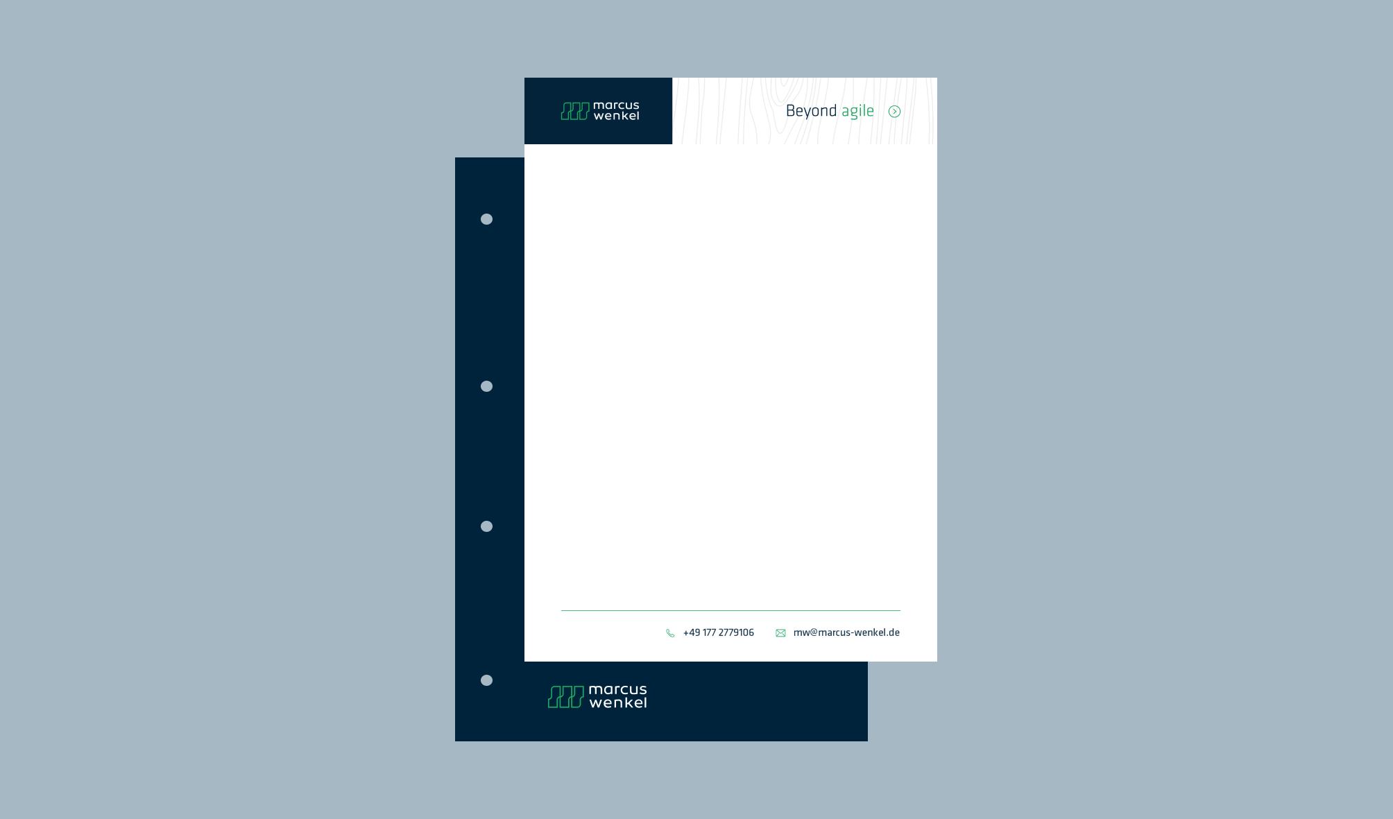 Marcus Wenkel letter design