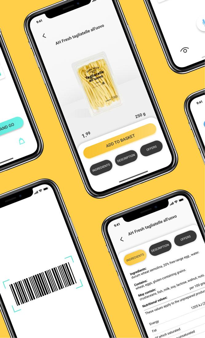 UI/UX App design for Shopon. Shopping app for visually impaired