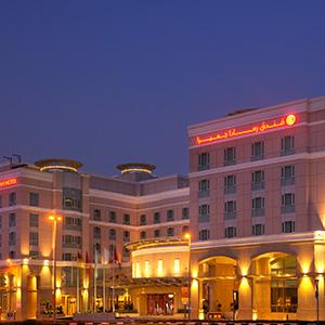 Ramada Jumeirah 5 Star hotel at night