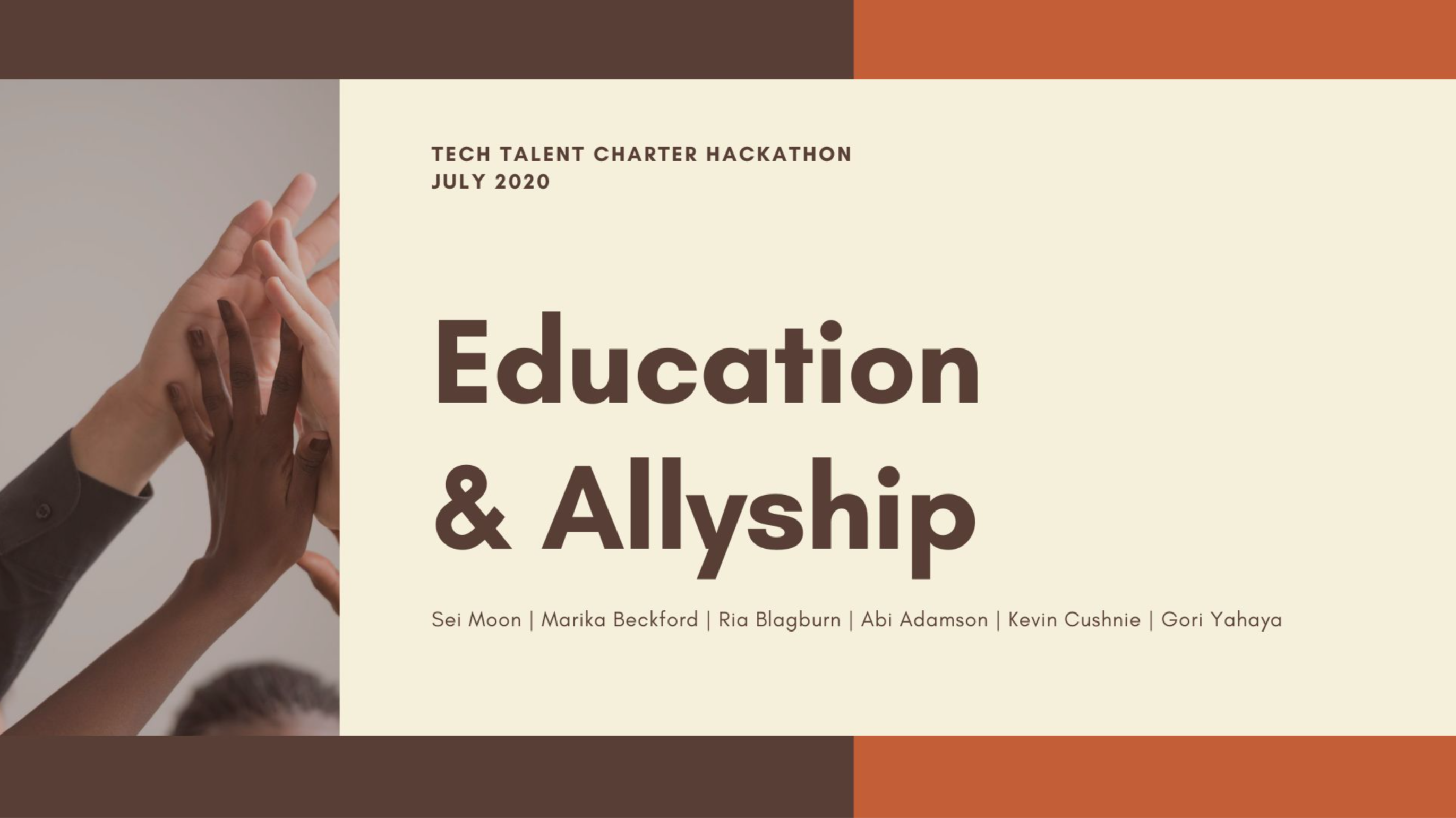 Cover of Education and Allyship Toolkit