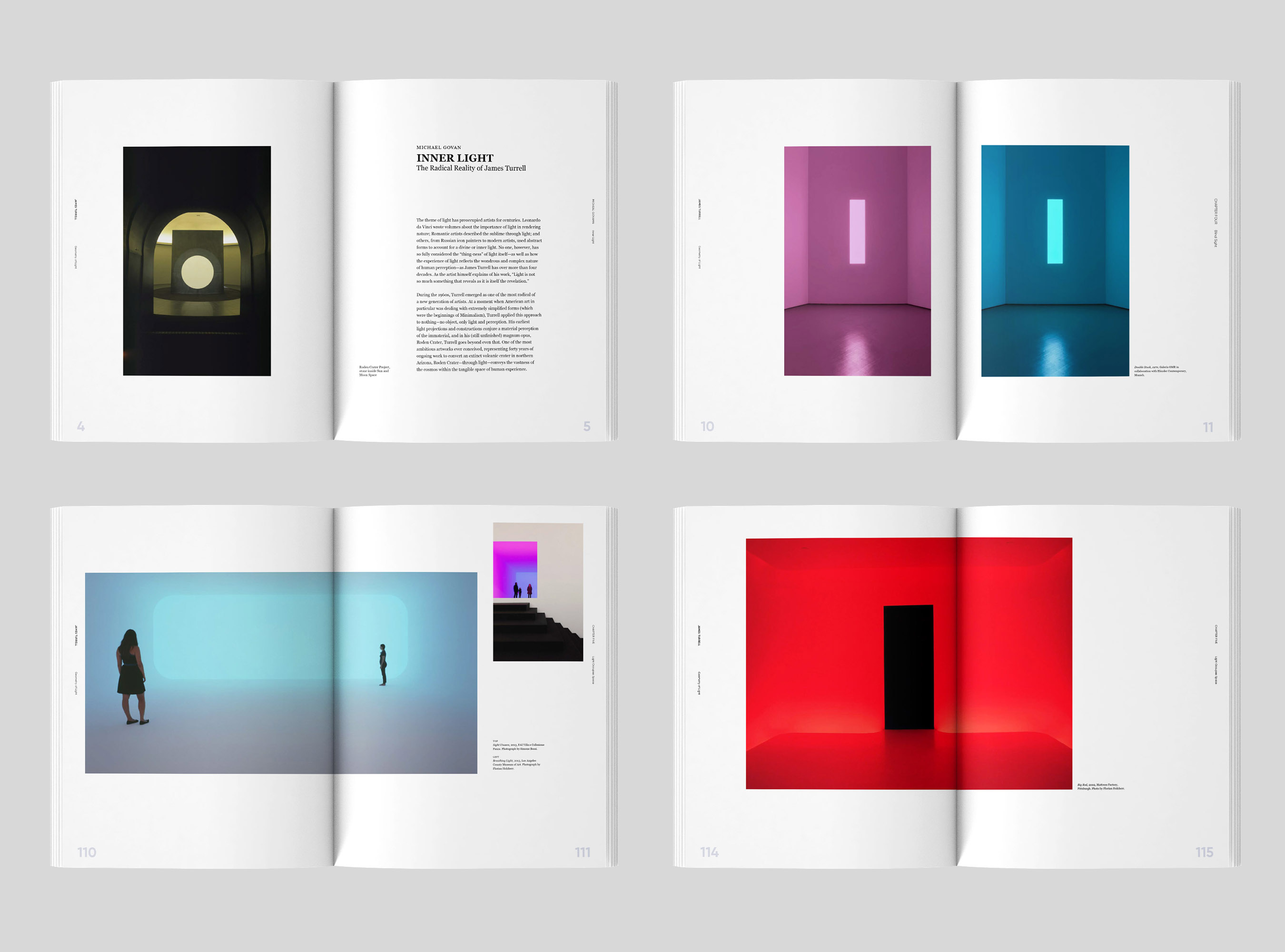 Geometry of Light book spreads