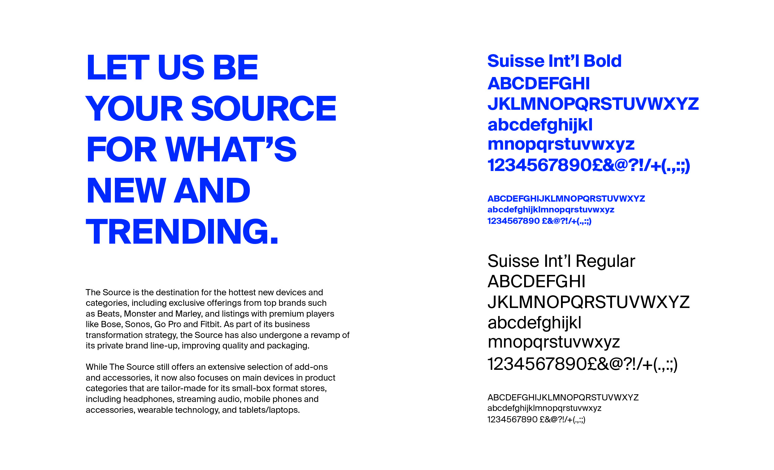 The Source typeface