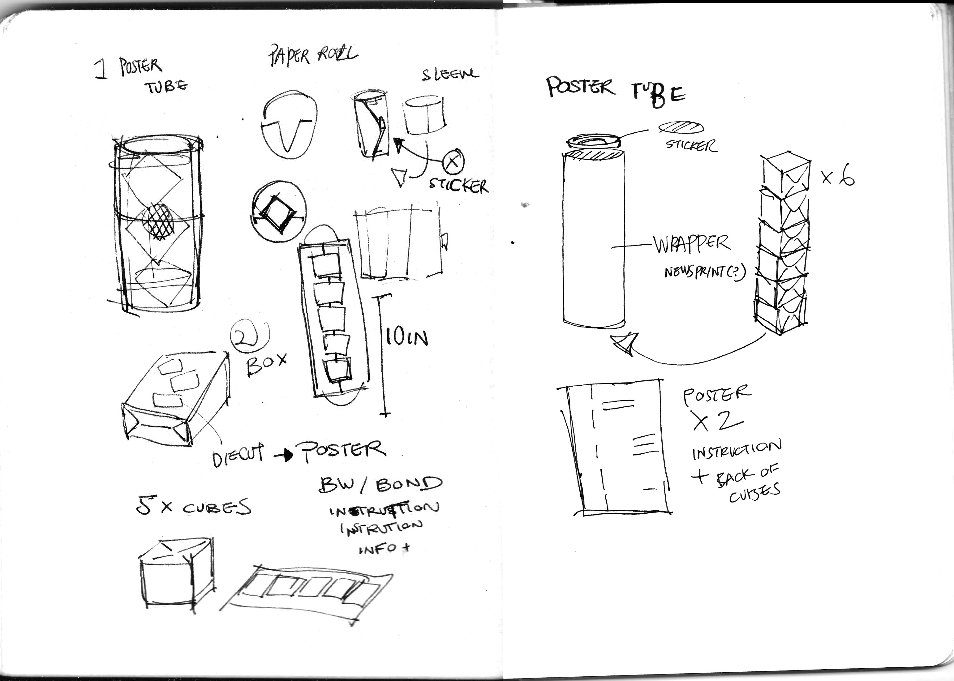 2D3D brainstorm sketches