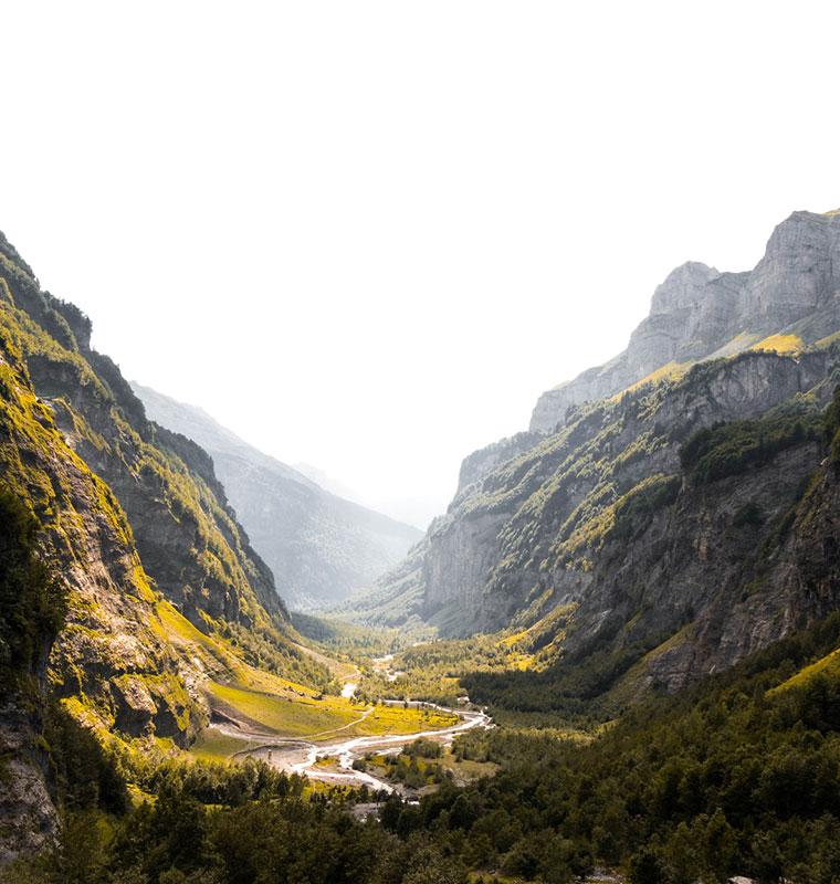 landscape image of a gorge