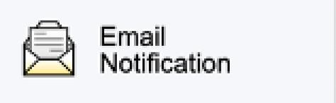 Email Notification option on PowerSchool Parent Portal Menu