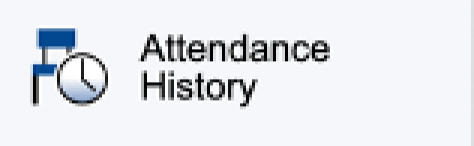 Attendance History option on PowerSchool Parent Portal Menu