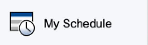 My Schedule option on PowerSchool Parent Portal Menu