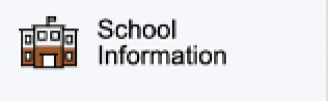 School Information option on PowerSchool Parent Portal Menu