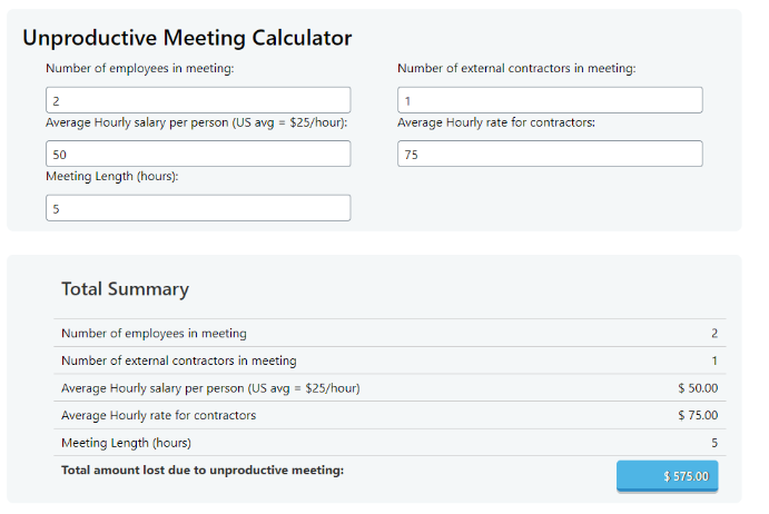 Have you ever wondered what an unproductive meeting is costing your organization? In the post, we put the total cost of meetings in the spotlight.
