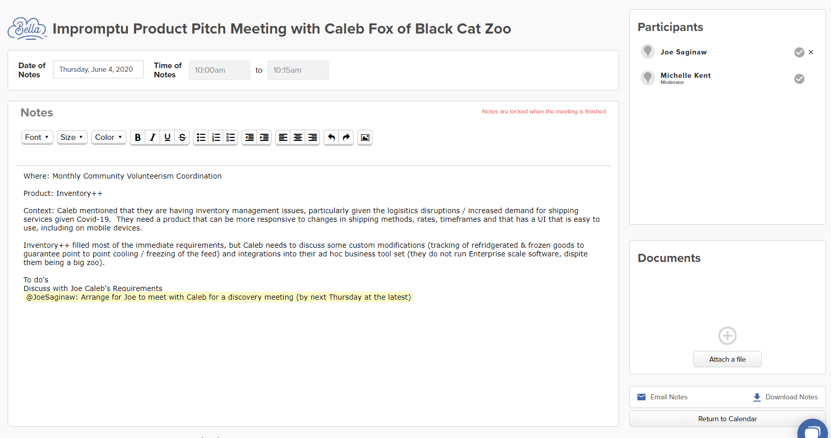 We've added a new feature we would like to share- emailing out meeting notes. Check out this post for how it works.