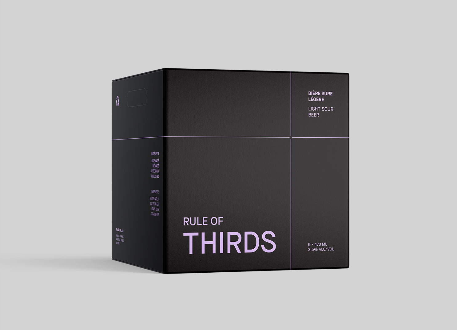 Box for Rule of Thirds beer packaging