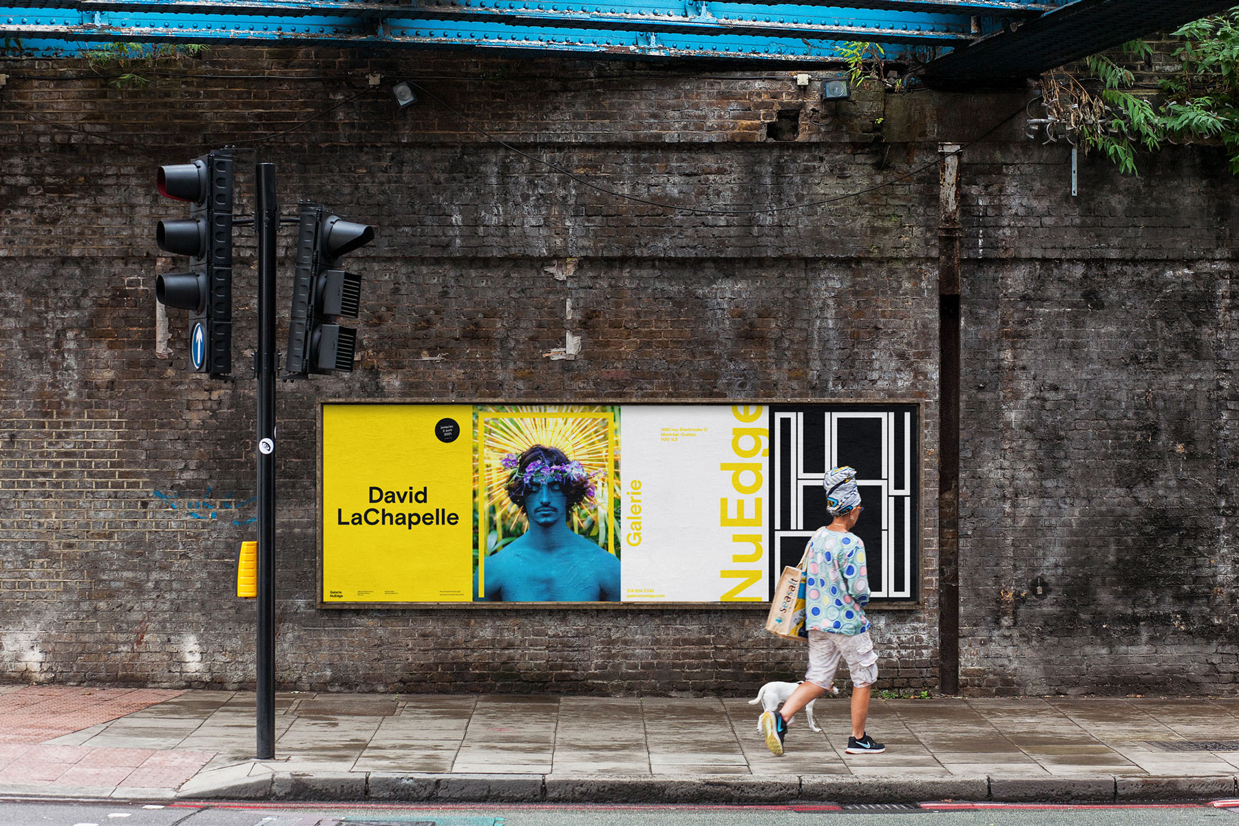 Second series of posters for Galerie NuEdge rebranding, as seen outdoors
