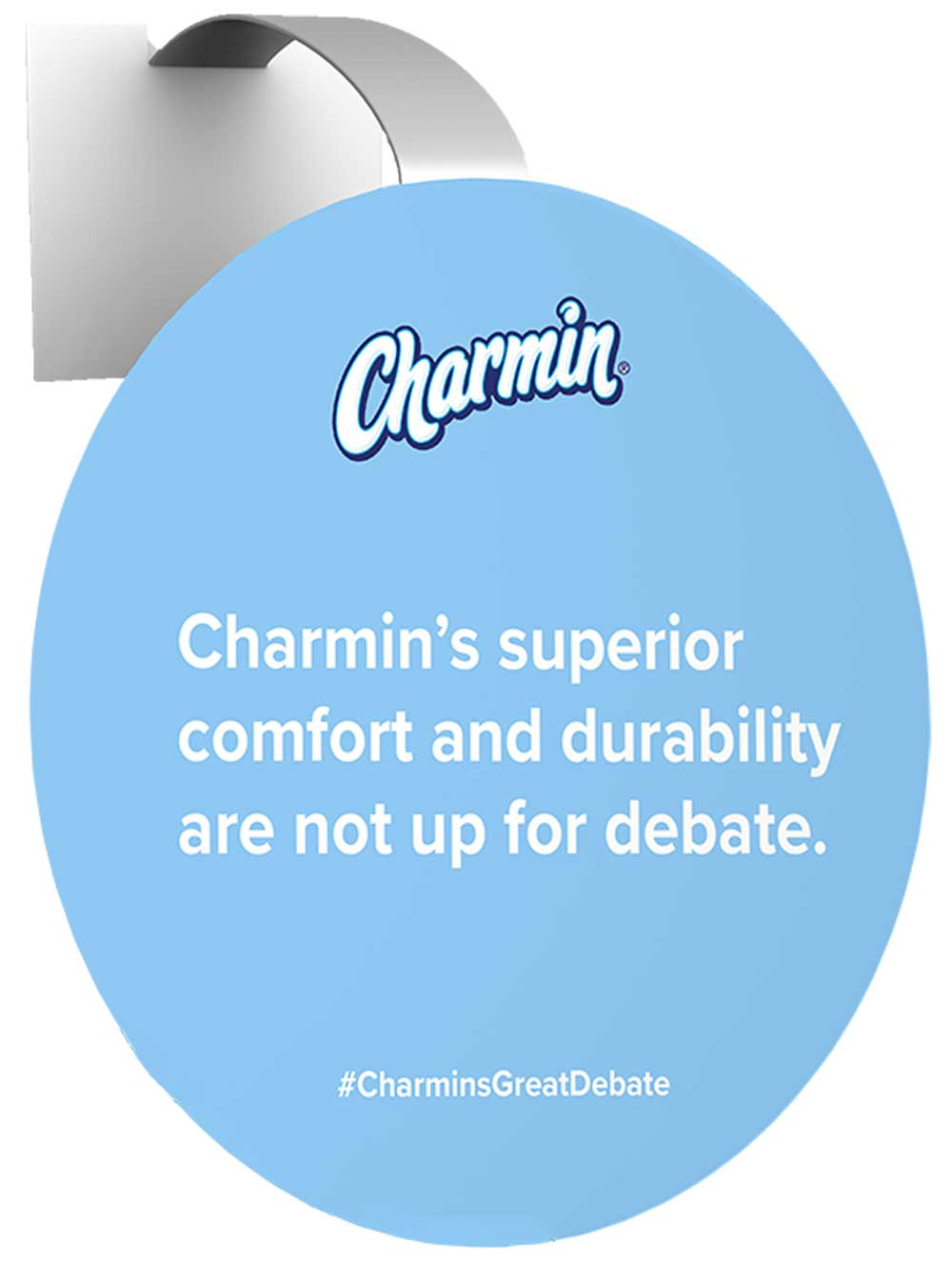 Grocery store wobbler for Charmin toilet paper campaign