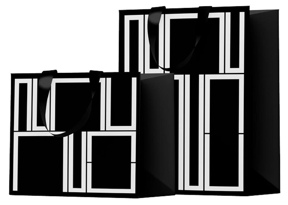 Paper bags for Galerie Nu Edge branding