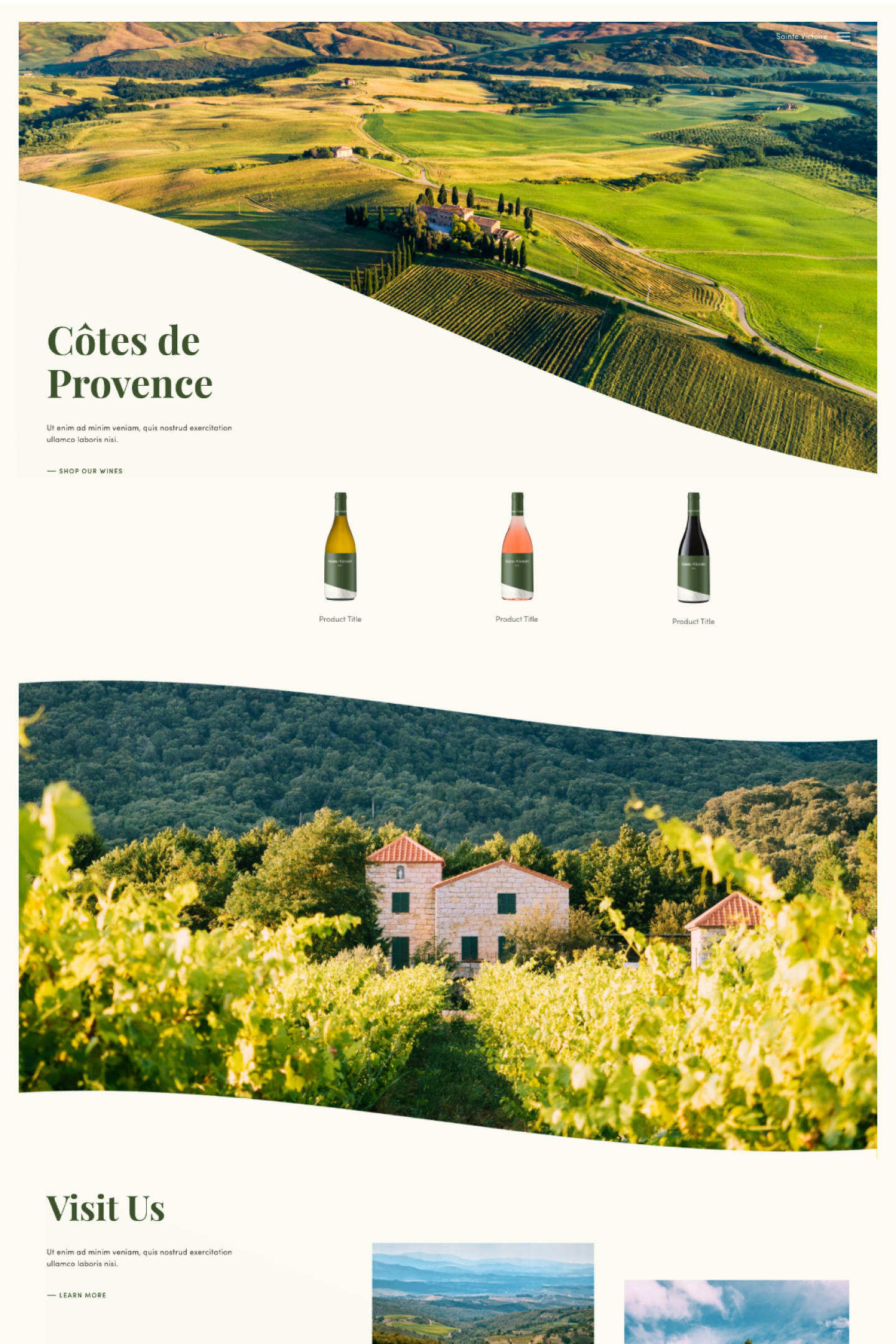 Sainte Victoire E-commerce by PLETORICA Designs