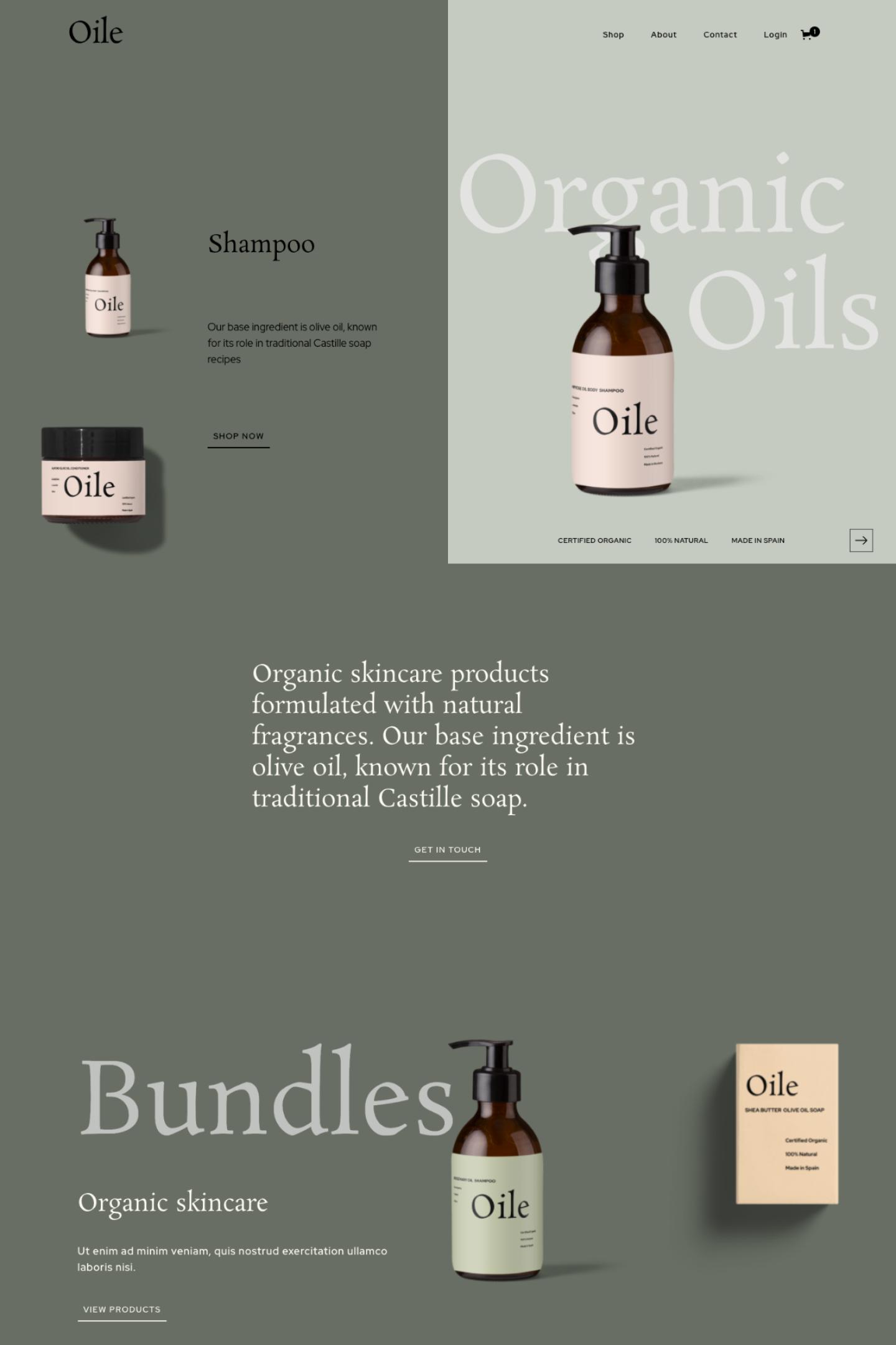 Oile Ecommerce by PLETORICA Designs
