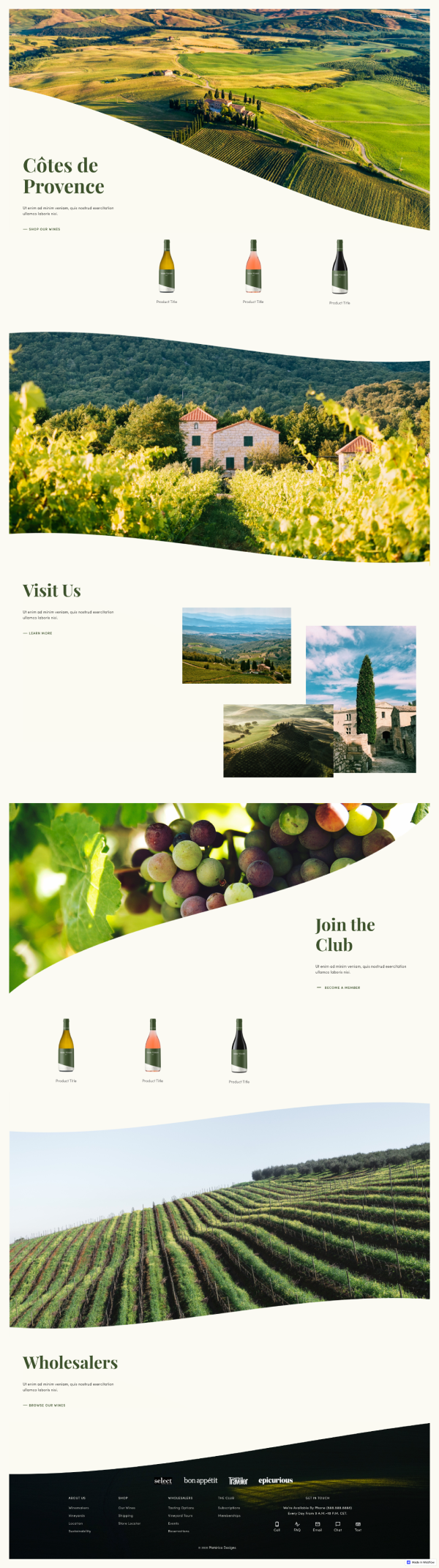 Sainte Victoire Winery Ecommerce