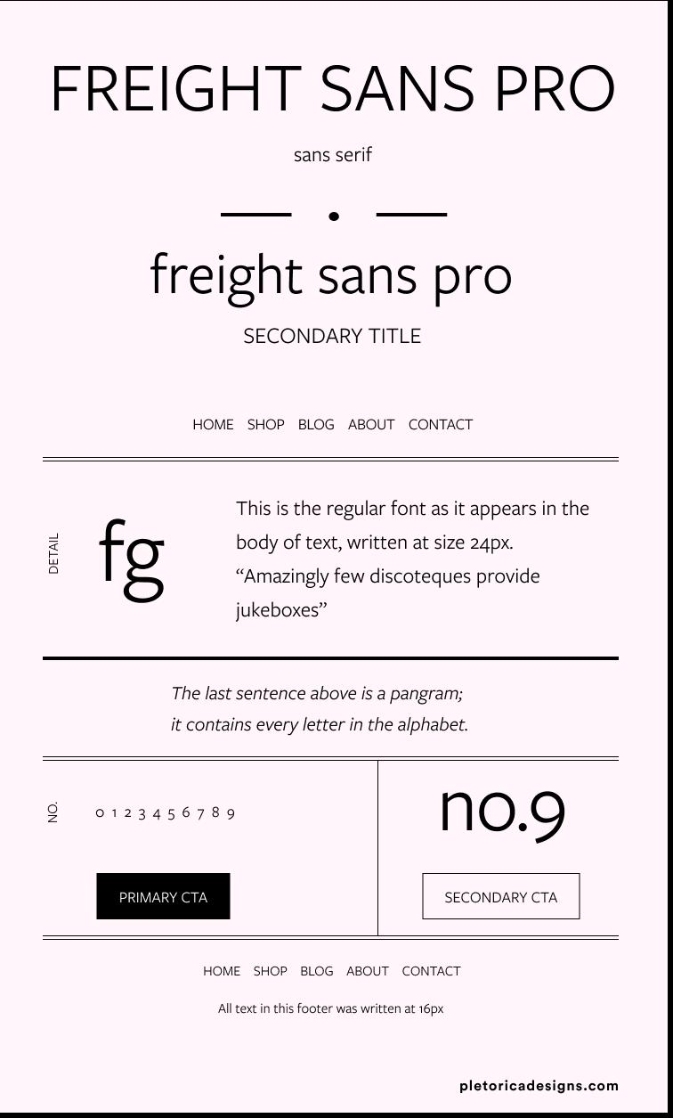 Freight Sans Pro