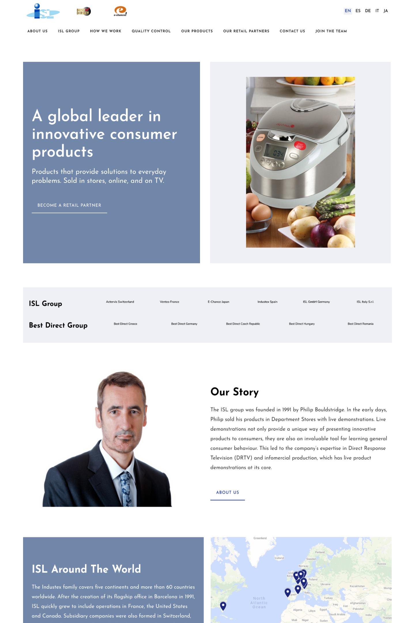 Industex S.L. - Multilingual Corporate Site
