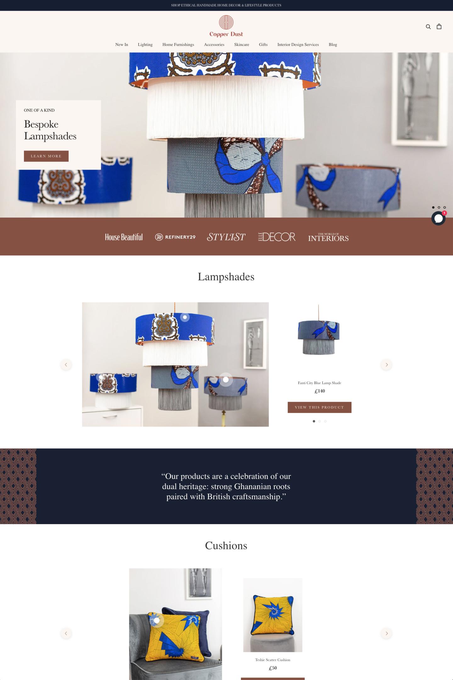 Copper Dust London - Lifestyle Brand Ecommerce