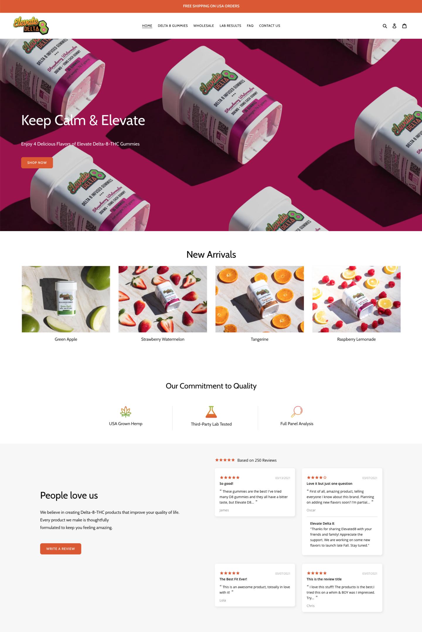 Elevate Delta 8 - CBD Gummies Ecommerce