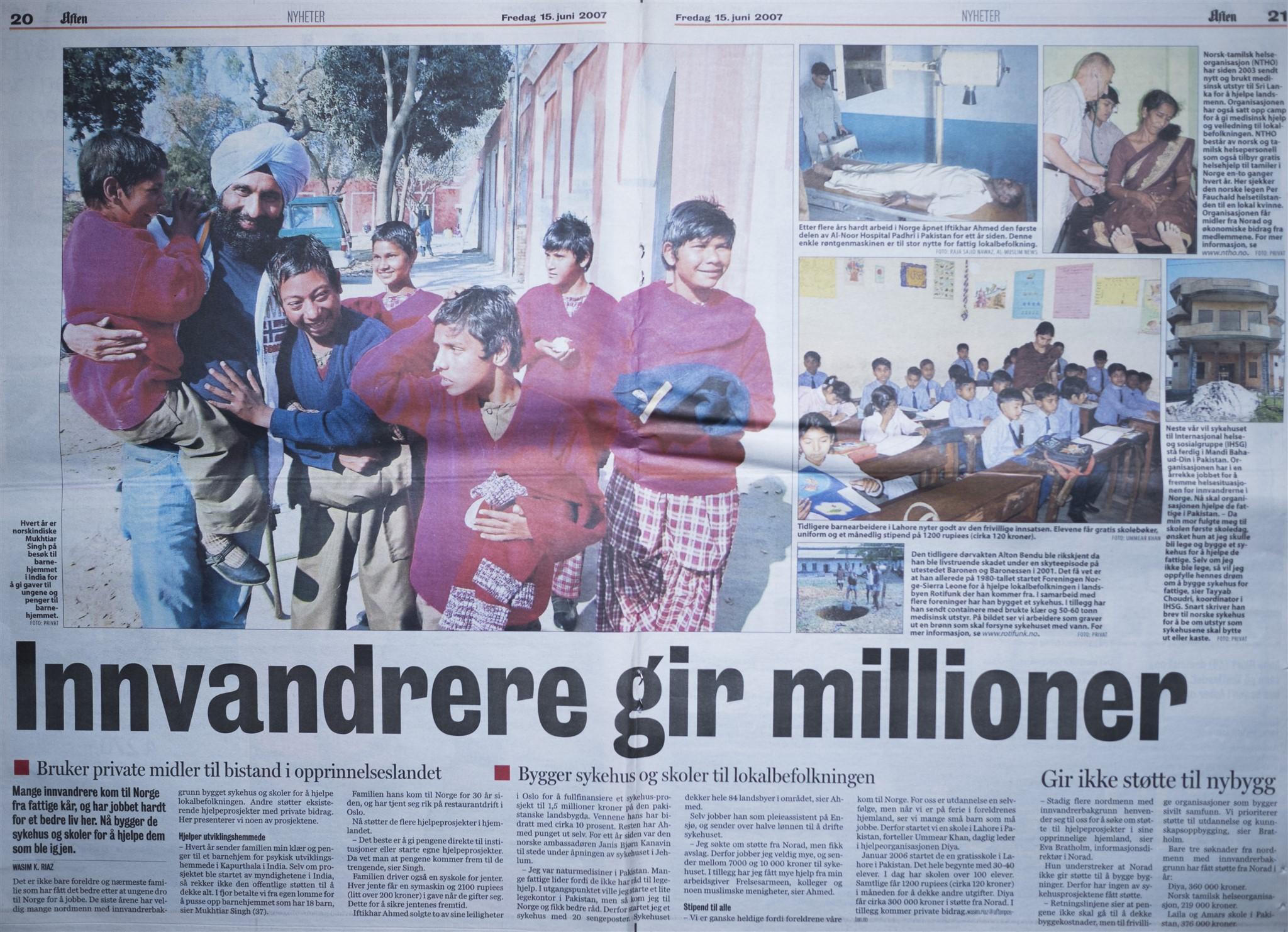 Innvandrere gir millioner
