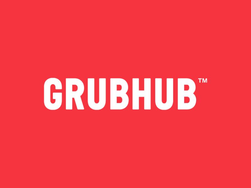 Grubhub logo by Wolff Olins
