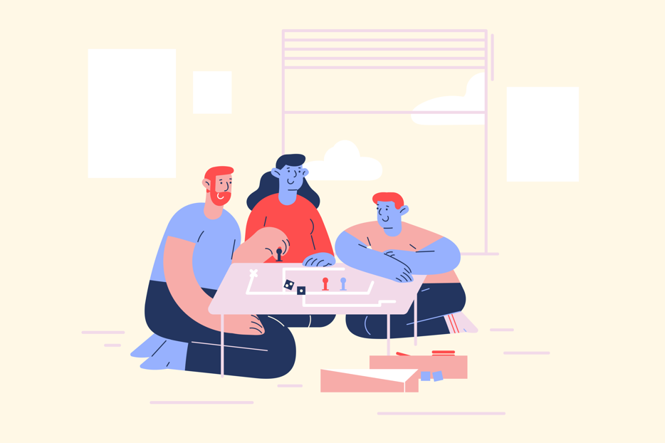 Stay at home illustrations by Craftwork