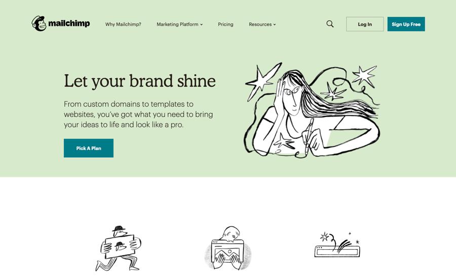 Mailchimp brand illustrations