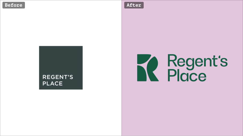 Regent's Place rebranding