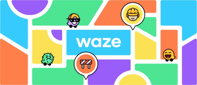 Dynamic grid elements of Waze rebranding