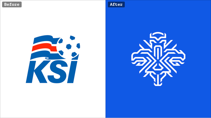 Icelandic National Football Team rebranding