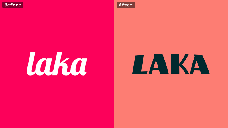 Laka rebranding