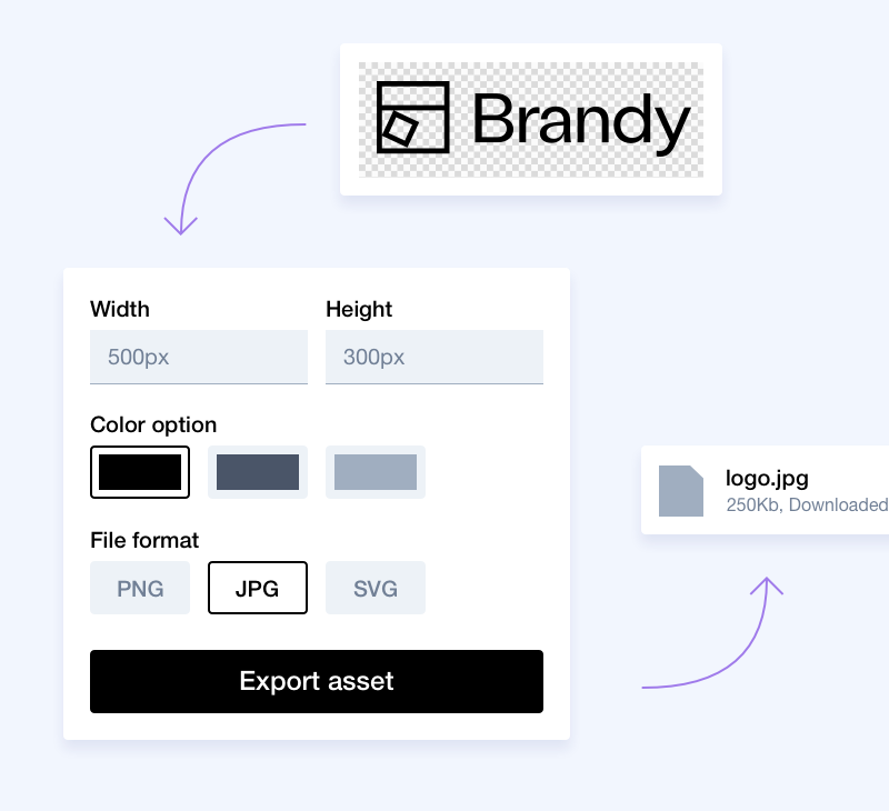 Vector file exporting - Brand brand asset manager