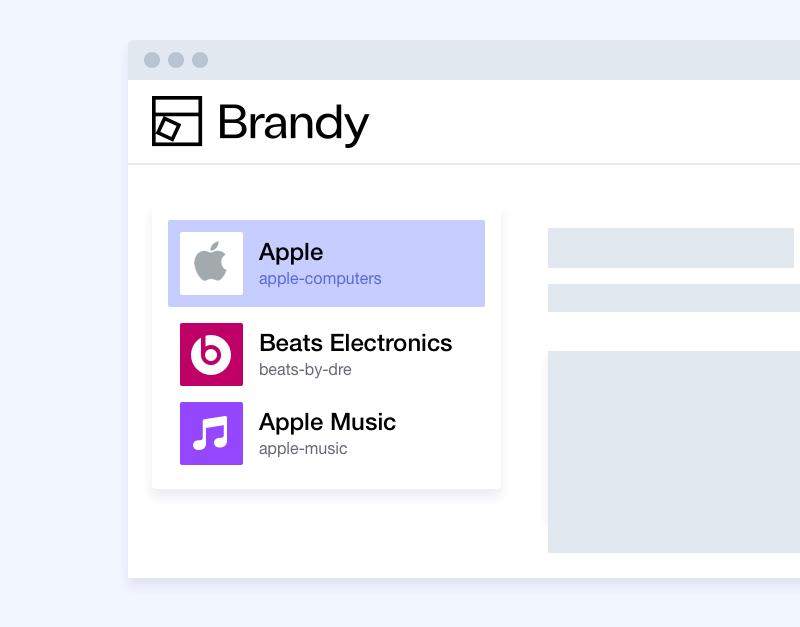 Managing multiple brands - Brandy brand asset manager