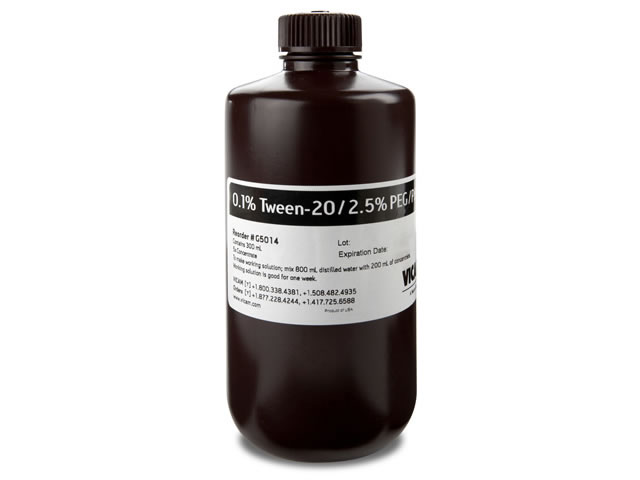 5X Concentrate of 0.1% Tween / 2.5% PEG/PBS 300 mL