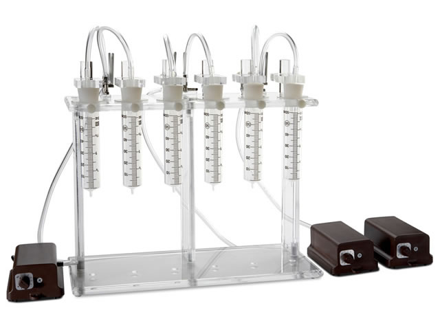 6-Position Pump Stand w/3 Pumps 60 mL