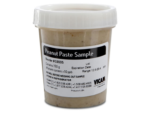 Aflatoxin Peanut Paste Sample, Over 10ppb