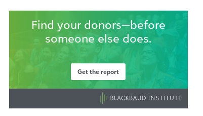 This graphic on Blackbaud's Website as of May 15 2020