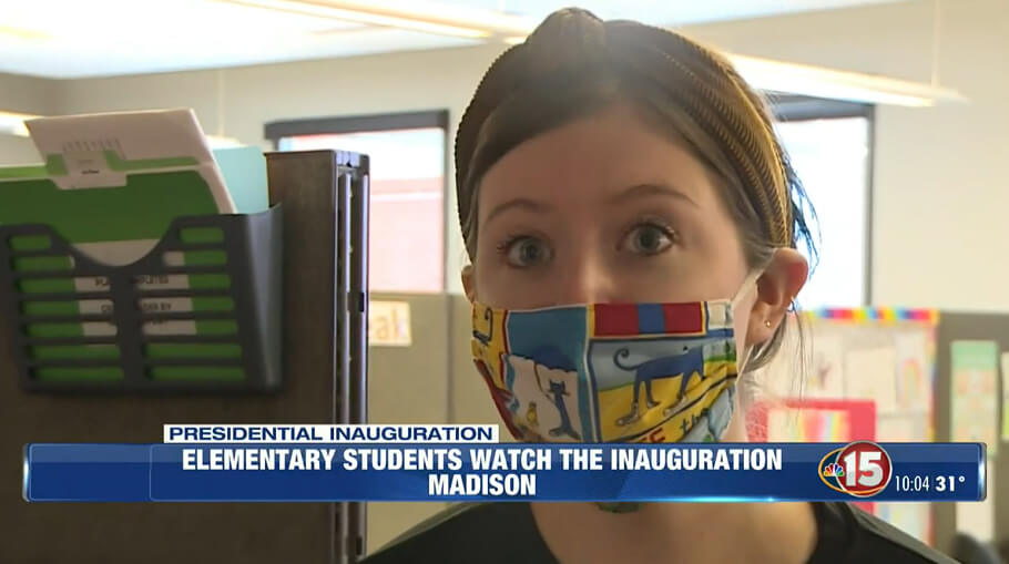 Madison elementary school tunes in to historic inauguration