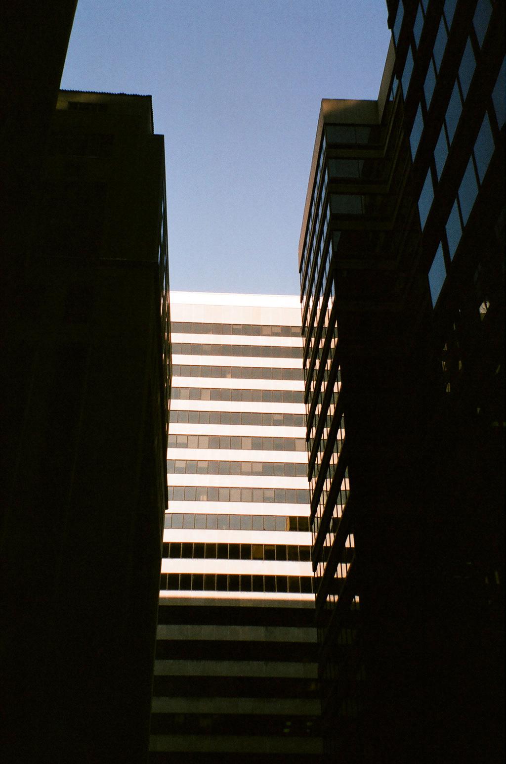 Montreal buildings film camera