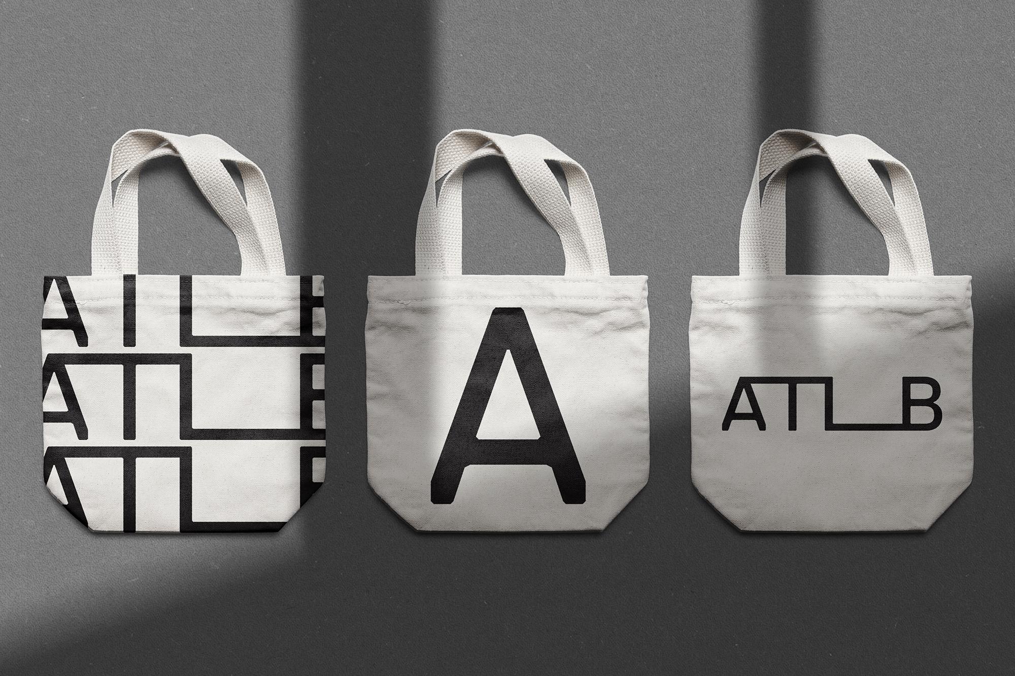 3 b&w tote bags design ATLB